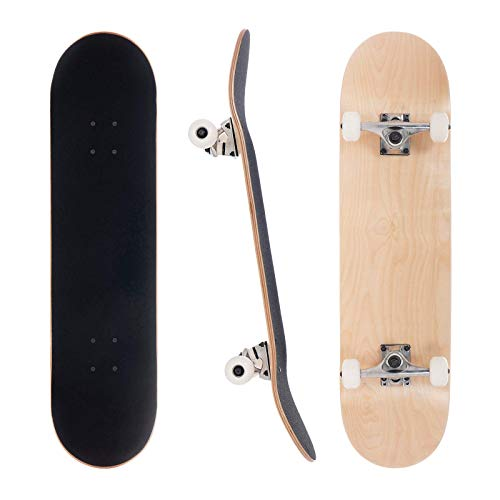 3WHYS 8 Inch Natural Complete Skateboard