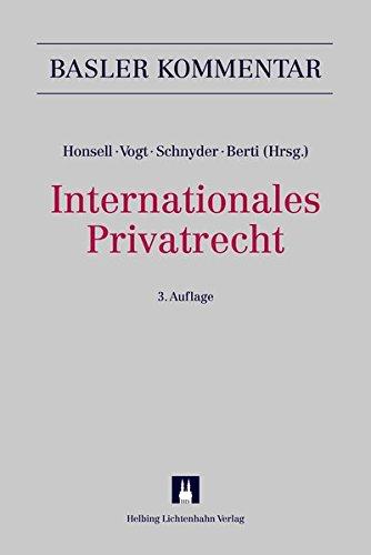 Internationales Privatrecht (IPRG) (Basler Kommentar)