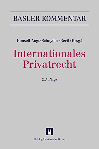 Internationales Privatrecht (IPRG) (Basler Kommentar)