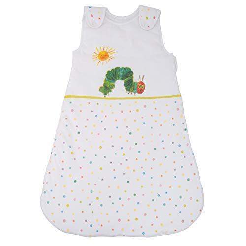 Herding RAUPE NIMMERSATT Baby-Schlafsack, 90 cm, Seitlich umlaufender Reißverschluss und Druckknöpfe, Weiß