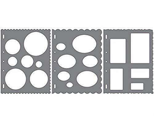 Fiskars 4975 ShapeCutter Schablone 3er Set, Drei verschiedene Schablonen, 1003880