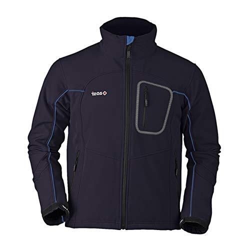 IZAS EUME Veste Softshell Homme, Bleu Marine/Royal, FR : M (Taille Fabricant : M)