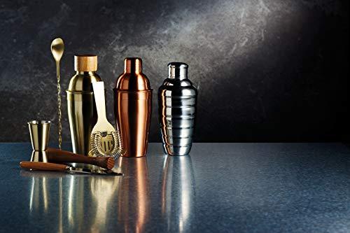 Kitchen Craft Cocktailzubehör-Set Bar Craf mit Messingausführung in Gold 6-teilig, Messing, 12 x 17 x 22 cm, 6-Einheiten - 6