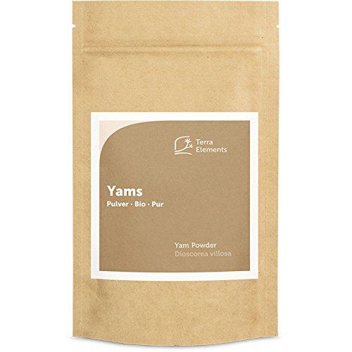 Terra Elements Bio Yams Pulver, 100 g I Wilde Yamswurzel I Frauenwurzel I 100% rein I Vegan