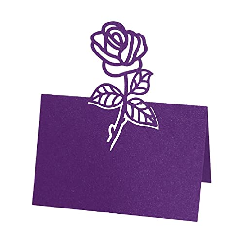 Unknows - 100 pezzi con rose vuote e numeri per segnaposto, ricevimento, matrimoni, feste, decorazione per anniversario