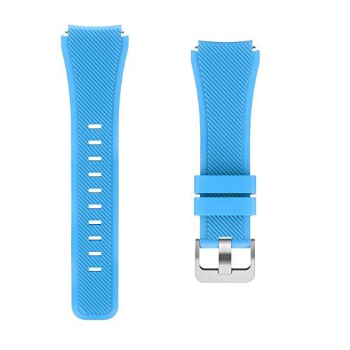 Insasta Wrist Strap Silicone Watchband for Samsung Gear S3 Classic Sky Blue