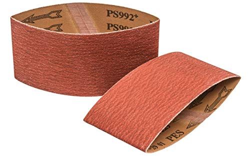 Walter 07F368 Linear Finishing Cloth Drum Abrasive Belt - (Pack of 5) 80 Grit Sanding Belt with Taped Butt Joints. Abrasive Accessories