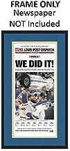 St. Louis Post-Dispatch Newspaper Frame - with St. Louis Blues Colors Double Mat