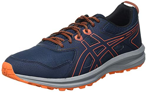 Asics Scout, Trail Running Shoe Hombre, French Blue/Marigold Orange, 43.5 EU