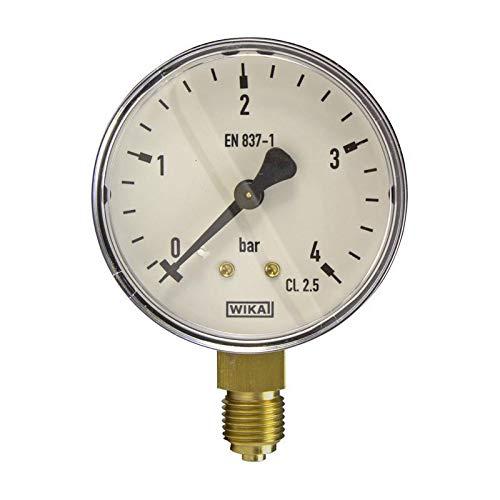Manometer, NG63, 0-4 bar - WIKA 111.10 - 9013709