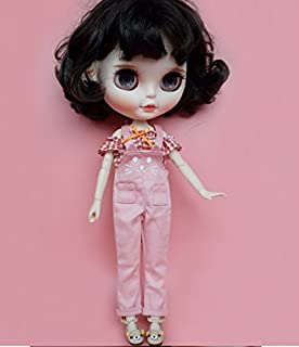 Studio one Cute Cat Pink Jumpsuit Pants Cloth for Blythe Doll Azone Licca 1/6 BJD 30 cm Doll