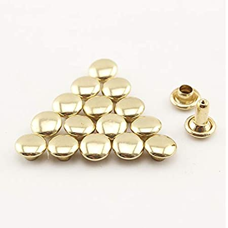 2030 sets of 15mm double cap dome rivets for leather Doll purse bag shoes clothing  Nickel Gold Anti brass