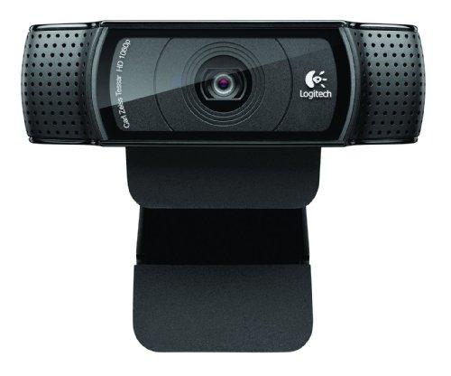 Logitech C920 Webcam 1920 x 1080 Pixel USB 2.0 Schwarz - Webcams (1920 x 1080 Pixel, 1080p,720p, H.264,M-JPEG, USB 2.0, Schwarz, Clip / Ständer)