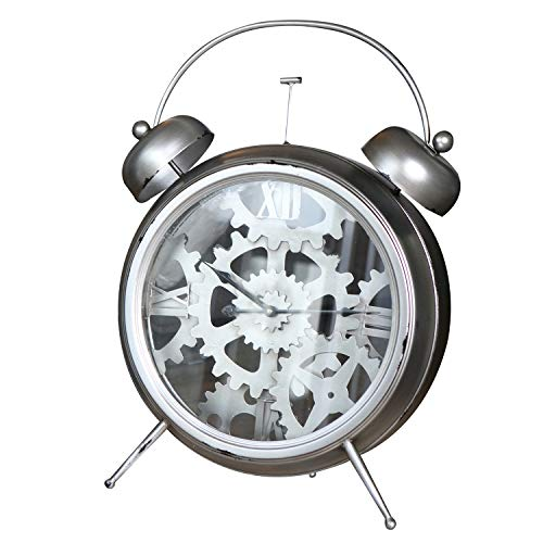 Casablanca - Uhr - aus Metall zum Hängen und Stellen im Factory-Design H 52 cm