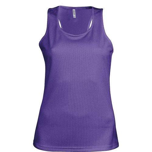Kariban Proact- Camiseta de Deporte de Tirantes para Chica/Mujer (Mediana (M)) (Púrpura)