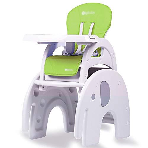 N/Z Living Equipment Travel Cots 3-in-1-Baby-Hochstuhl Schreibtisch Cabrio Spieltisch Conversion Seat Booster (Farbe: Elefantenbereich (Macaron blau))