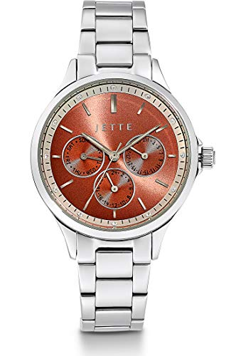 JETTE Damen-Uhren Analog Quarz One Size Silber 32013687