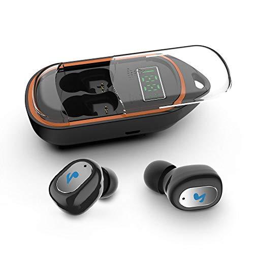 DKEE auriculares Los Verdaderos Auriculares Inalámbricos Con 400mAh Carga De La Caja, En La Oreja Los Auriculares Con Micrófono Bluetooth Y Llavero, IPX5 0.0 De Gran Capacidad Impermeable Auricular In