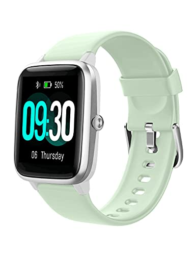 Willful Smart Watch for Android Phones and iOS Phones Compatible iPhone Samsung, IP68 Swimming Waterproof Smartwatch Fitness Tracker Watch Heart Rate Monitor Smart Watches for Men Women Mint Green-GY