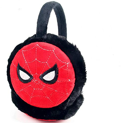 IUTOYYE Boys Superhero Earmuffs Soft Plush Padded Knitted Design Earwarmer Kids Winter Ear Muffs (Spider)