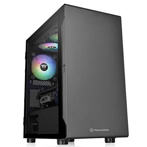 Thermaltake S100 TG ミニタワーPCケース スイングドアパネル採用 CA-1Q9-00S1WN-00 CS7885