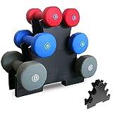 Soporte para mancuernas, soporte mini para mancuernas de 3 capas, soporte compacto para pesas con mancuernas, gimnasio en casa, ejercicio, que puede acomodar 3 juegos de mancuernas de gimnasio