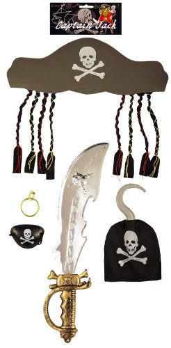 PIRATE SET 5 PC ADULT