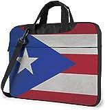 Bolsa De Hombro para Portátil Bolsa para Portátil con Bandera De Puerto Rico Maletín De Transporte con Funda De Estuche