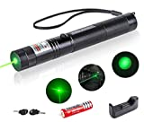 LESANLI Green Beam Light Pointer, Tactical High Power Flashlight, Adjustable Focus with Visible Torch Pen for Hunting Hiking Outdoor Projector Travel, Cat Dog LED Interactive Toy.