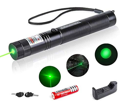 Visible Beam with Adjustable Focus Handheld Flashlight for Outdoor Camping Biking Hiking Outdoor LESANLI Green Light Torch,Chaser Toy Demonstration Projector High Power Pen