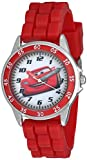 Cars Kids' Analog Watch with Silver-Tone Casing, Red Bezel, Red Strap - Official Cars Lightning McQueen Character on The Dial, Time-Teacher Watch, Safe for Children - Model: CZ1009