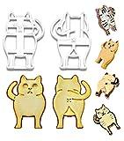 PoozyCatz - Chonky Kitty Ausstechformen-Set – 2 Stück – groß 10,2 cm Größe – vorne und...