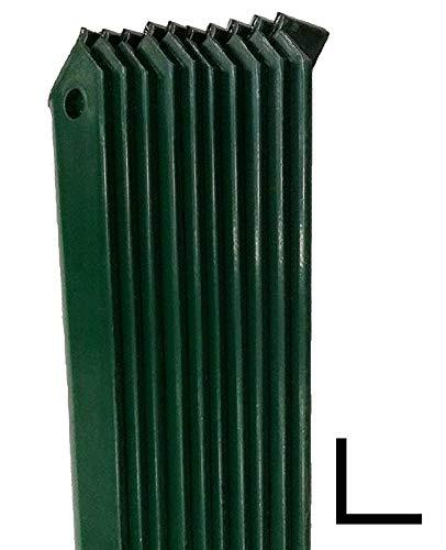 NEXTRADEITALIA CF da 10PZ Saetta di sostegno a L H 150 CM 25x25x3 mm PLASTIFICATA per paletti in ferro a T da H 175 e 200 | recinzioni da GIARDINO