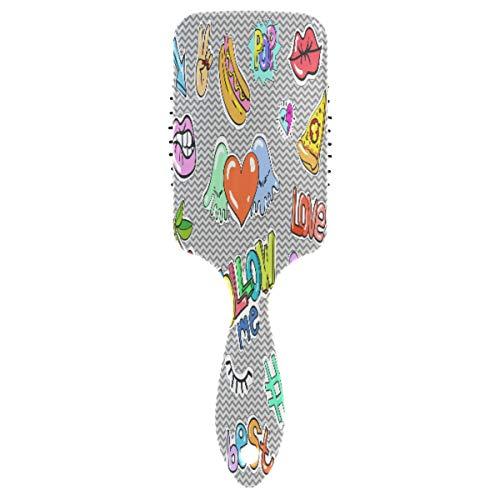Love Heart Best Follow ME Massage Comb Hairbrush Detangler Straightener Spa Air Cushion Anti Static Hair Brush Detangling for Hair Care Relaxing Kids Girls Women(2pcs)