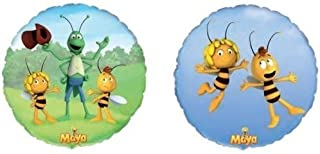 """Maya The Bee 18"""" Foil Balloons (2 Pack, 1 of Each Design)"""
