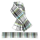 Bufanda cruzada de franela a cuadros para el cuello, bufandas de felpa de doble cara, suave y ligera, para mujeres, hombres y adolescentes