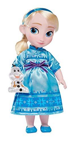 DS Disney Store - Muñeca de 40 cm con Elsa Frozen – El Reino de Hielo Reina Princesa...