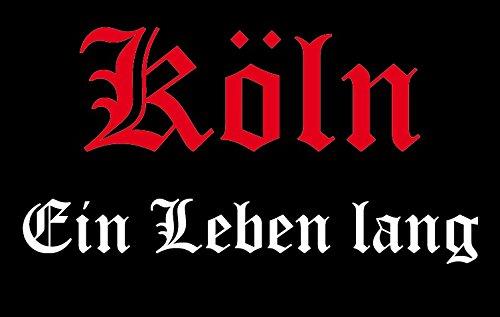 U24 Aufnäher Köln Ein Leben lang Aufbügler Patch 9 x 6 cm