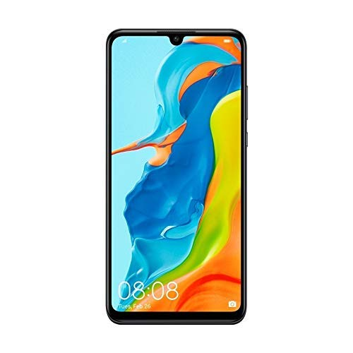 Huawei P30 Lite 128GB Hybrid Dual Sim Unlocked GSM Phone w/ Triple (24MP + 8MP + 2MP) Camera - Midnight Black