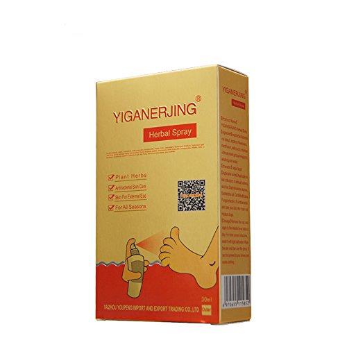 1 Piece YIGANERJING Spray Natural Formula Athletes Foot Treatment Antibaterial Spray for Psoriasis Eczema 30ml