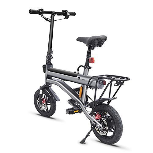 OYLXQ Elektrisches Faltrad, 12 Zoll tragbares Elektrofahrrad, 350 W, 36 V, 7,8 Ah, wiederaufladbarer Akku, Höchstgeschwindigkeit 35 km/h, E-Bike für Erwachsene, Frauen, Männer