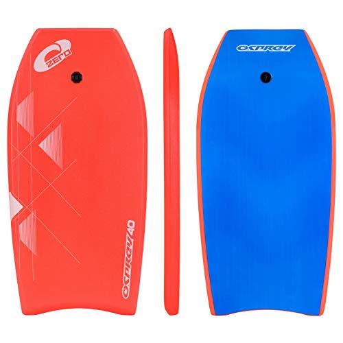 Osprey Zero Bodyboard con Leash Boogie Board per Bambini e Adulti, Unisex,...