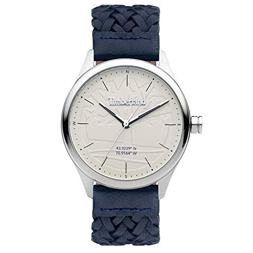 Timberland Reloj Analógico para Hombre de Cuarzo con Correa en Cuero TDWGA2100701