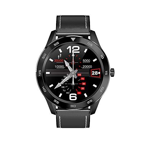SmartWatch, Full Circle touchscreen Veel wijzerplaten Smart Watch, Hartslag Slaap Bloeddruk Gezondheidsmonitoring, Intelligente informatieherinnering, Mannelijke en vrouwelijke stappenteller,F