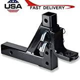 BXzhiri Dual Ball Mount Drop Adjustable Hitch Tow 2 in Receiver Heavy Duty Tow...