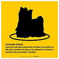YORKSHIRE TERRIER'S POEMマグネットサイン:ヨークシャーテリア/フルコート(イエロー/Mサイズ) アメリカの詩 英語 愛犬家 優しさ防犯 マグネットステッカー