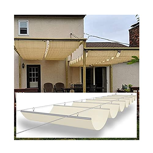 XYUfly20 Toldo Retráctil Ondulado Pasillo Sombrilla Y Cortina De Vela En El Área De Actividades del Patio Cuerda De Polea Se Utiliza para Protegerse del Sol En Patios Y Soláriums De Jardín.