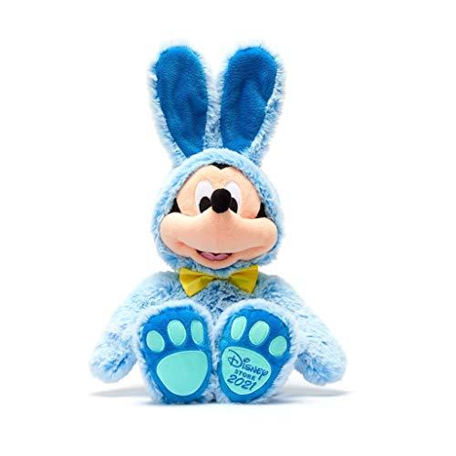 Disney Store Peluche Medio Topolino Coniglietto Pasquale Blu Morbido Peluche Originale Ed. 2021