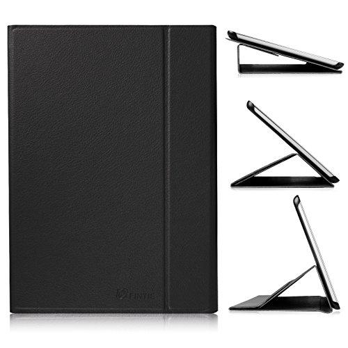 Fintie Hülle für Samsung Galaxy Tab A 9.7 (T550N / T555N) 9,7 Zoll Tablet-PC - Ultra-schmaler Flip Folio Book Cover Schutzhülle mit Auto Schlaf/Wach Funktion, Schwarz