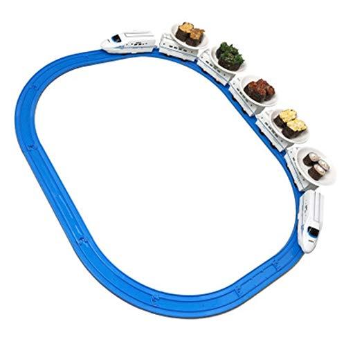 Domilay Cinta Transportadora para el Hogar, Tren de Juguete para Sushi, Pista EléCtrica, Cinta Transportadora, Mesa Giratoria
